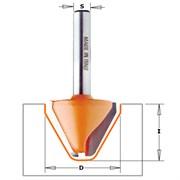 Фреза для гравировки круглый 60° угол хвостовик 12