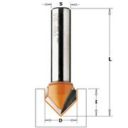 Фреза пазовая V-образная 90° хвостовик 12мм CMT