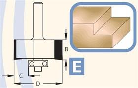 Фреза для выборки четвертей хвостовик 6мм DIMAR