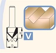 Фреза канавочная V-образная хвостовик 8мм DIMAR