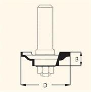 Фреза профильная D=31,8мм В=6,4мм DIMAR