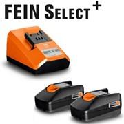 Комплект 2 Акк 18V 2.0Ah + з/у Select+ FEIN
