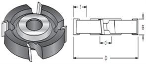Фреза пазовая дисковая S=30 D=125мм B=18-50 DIMAR