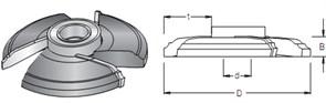 Фреза филенчатая насадная S=30 D=153x19 DIMAR