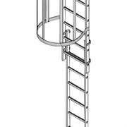Стационарная лестница для зданий сталь
