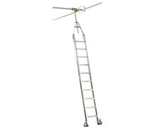 Стеллажная двухрядная лестница