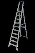Стремянка Промышленная линия для профессионального применения в строительстве и индустрии с роликами