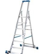 Стремянка Промышленная линия для профессионального применения в строительстве и индустрии с траверсой