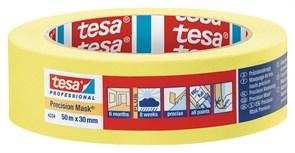 Лента малярная желтая Четкий край 50 м × 30 мм (5 мес) Tesa