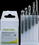 Свёрло-бит BKS D 3-8 CE/W 5шт. по дереву Festool