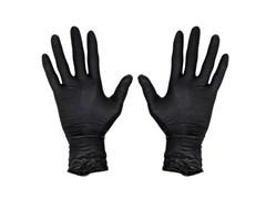 Перчатки Jsn Natrix нескользящие одноразовые черные нитриловые